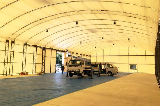 テント倉庫の施工実績例